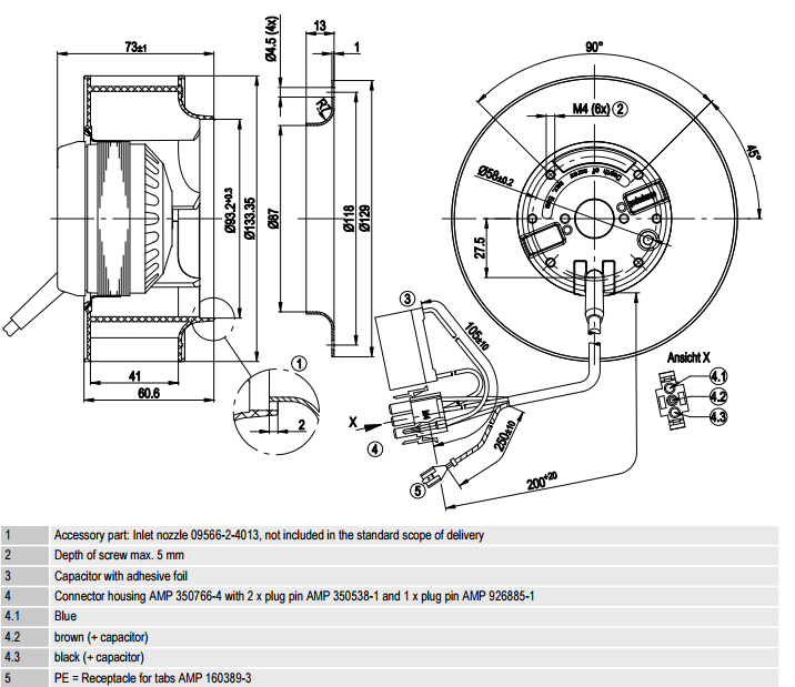 R2E133-BH66-24 ebm-papst чертеж