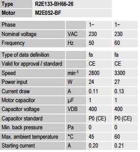 R2E133-BH66-26 ebm-papst параметры