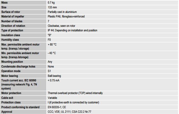 R2E133-BH66-26 ebm-papst техническое описание