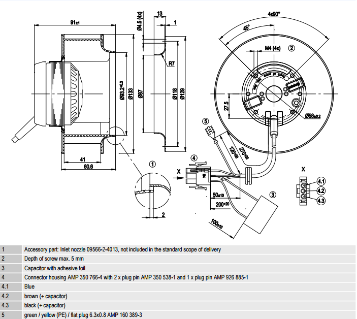 R2E133-BH66-26 ebm-papst чертеж