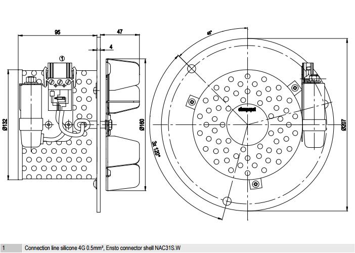 R2E160-BI82-09 ebm-papst чертеж