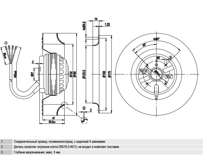 R2E180-CB28-14 ebm-papst чертеж