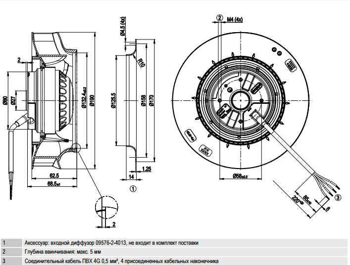 R2E190-RA26-47 ebm-papst чертеж
