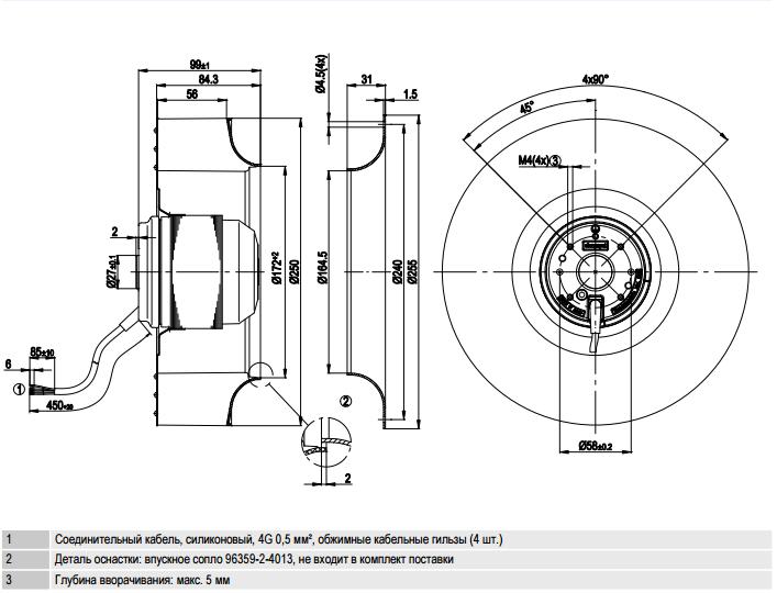 R2E250-AS47-26 ebm-papst чертеж