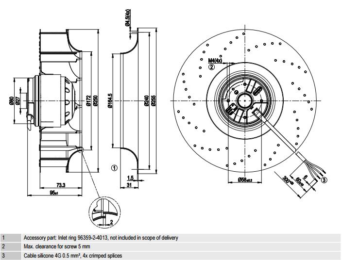 R2E250-AV62-10 ebm-papst чертеж