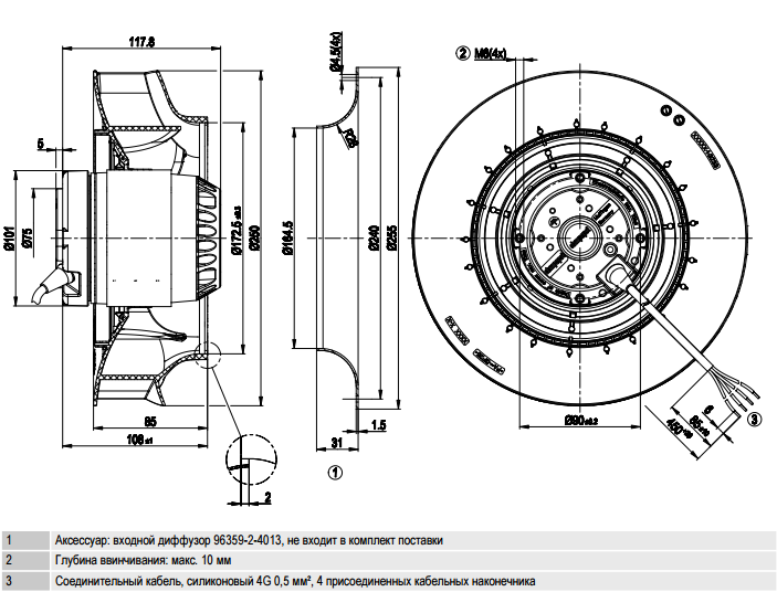 R2E250-RB06-01 ebm-papst чертеж