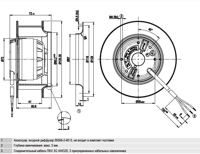 R2S133-AE17-43 ebm-papst чертеж