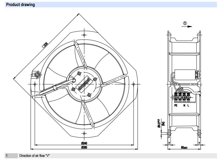 W2E200-HK86-01 Ebmpapst вентилятор осевой