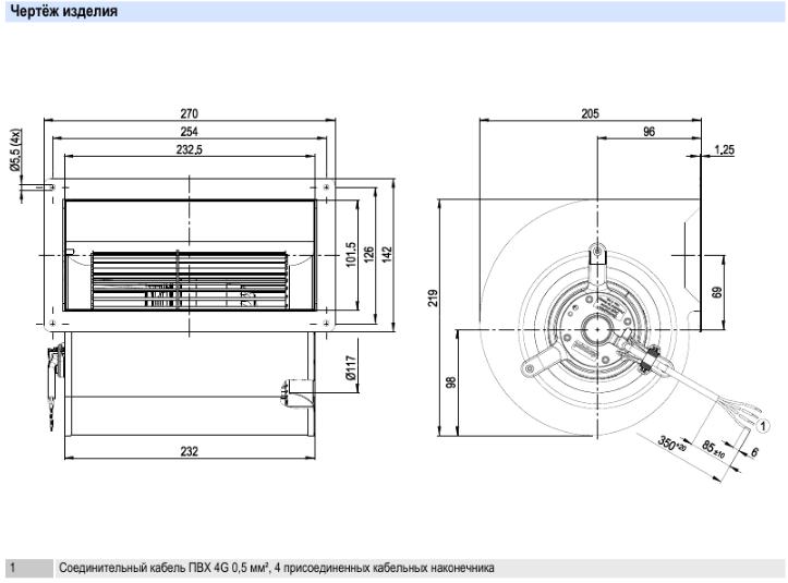D2E146-AP47-22 ebmpapst параметры