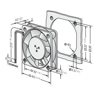 405F Ebmpapst вентилятор компактный