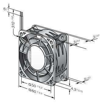 614JH ebmpapst вентилятор чертеж