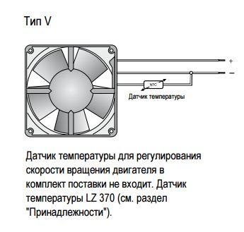 8412NGMLV ebmpapst схема установки датчика температуры