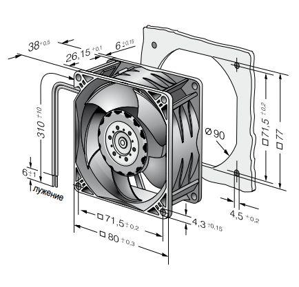 8218JN ebmpapst вентилятор чертеж