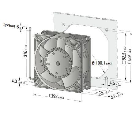 3312NH Ebmpapst вентилятор компактный