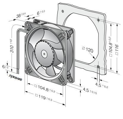 DV4114N ebmpapst вентилятор чертеж