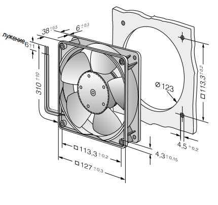 5214NM ebmpapst вентилятор чертеж