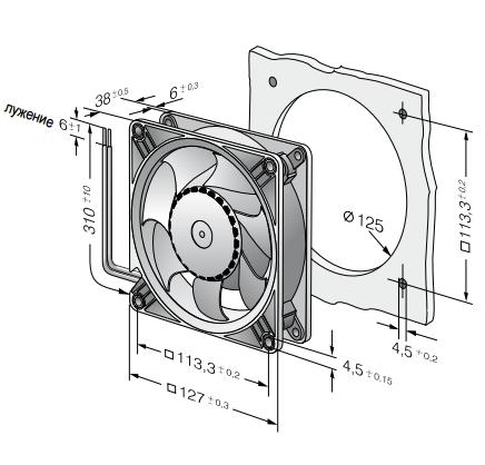 DV5218N ebmpapst вентилятор чертеж