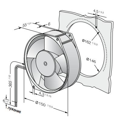 7212N ebmpapst вентилятор чертеж