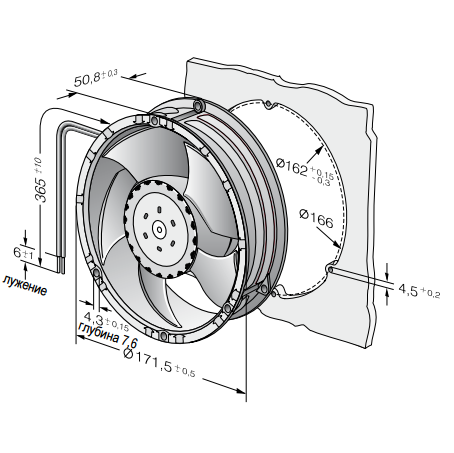 6314/2TDHHP ebmpapst вентилятор чертеж