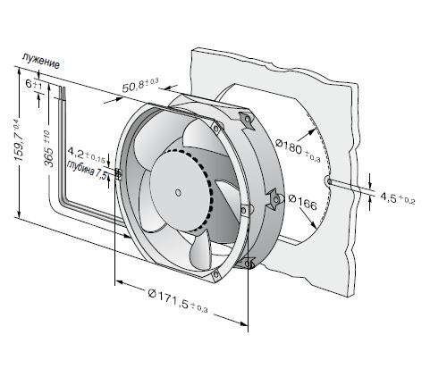 DV6448TD... ebmpapst вентилятор чертеж