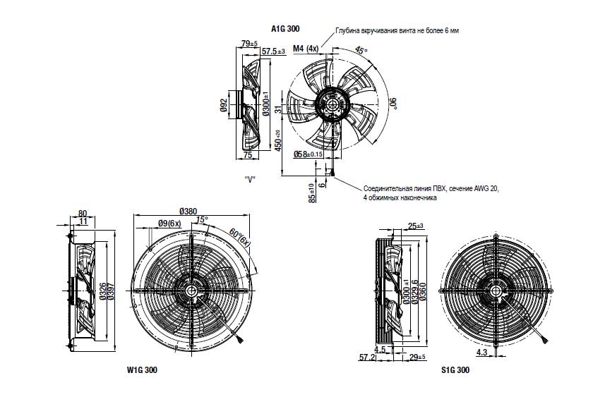 S1G300-AC33-54 Ebmpapst вентилятор компактный