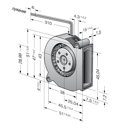RLF35-8/14N ebmpapst вентилятор чертеж