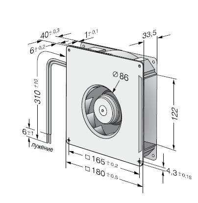 RG125-19/18N ebmpapst вентилятор чертеж
