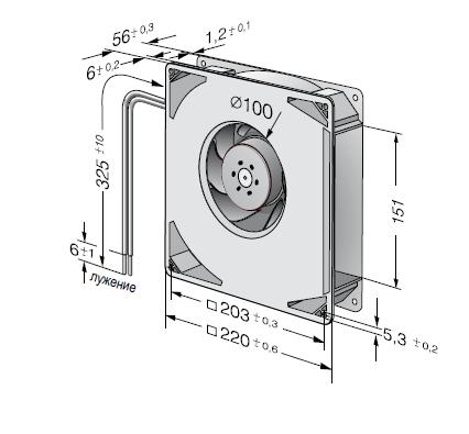 RG160-28/18NTD... ebmpapst вентилятор чертеж