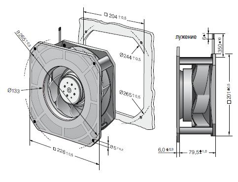 RG190-39/18/2TDO ebmpapst вентилятор чертеж