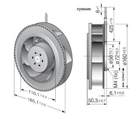 RER160-28/18NTD... ebmpapst вентилятор чертеж