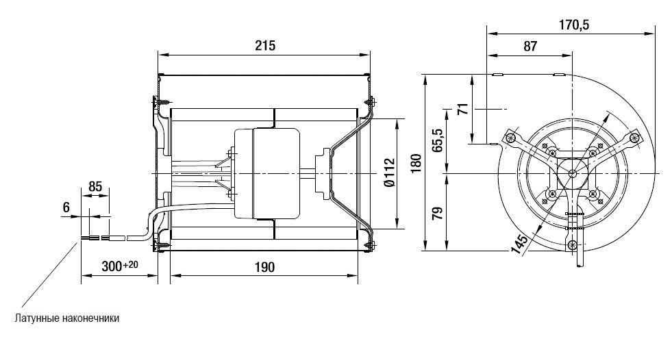 D1G133-AB29-52 ebmpapst вентилятор чертеж