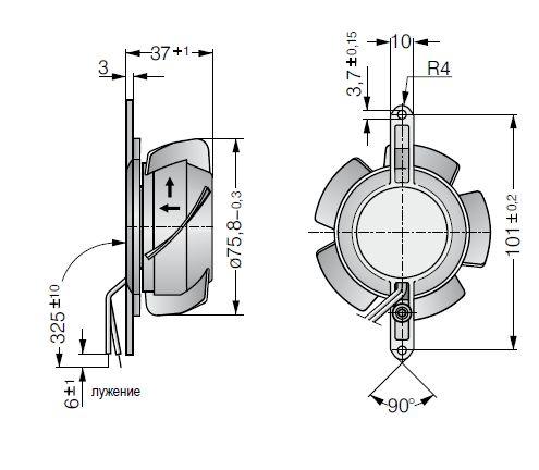 8830TV ebmpapst вентилятор чертеж