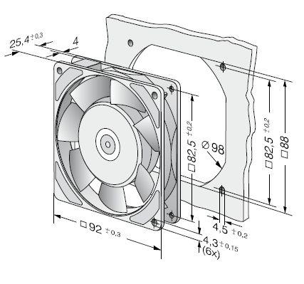 3956 ebmpapst вентилятор чертеж