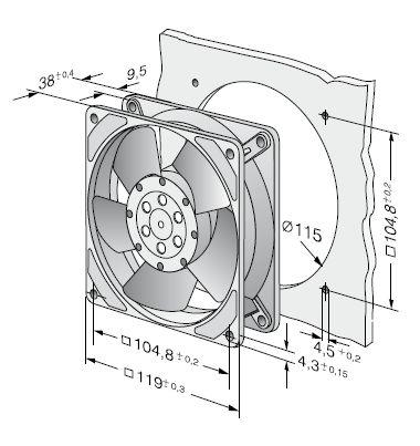 4656Z ebmpapst вентилятор чертеж