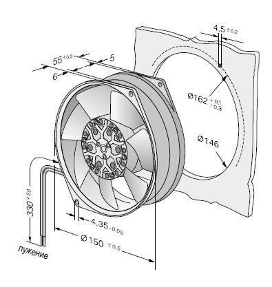 7856ES ebmpapst вентилятор чертеж