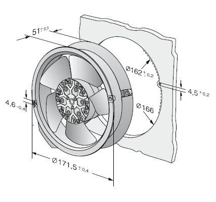 6008ES ebmpapst вентилятор чертеж