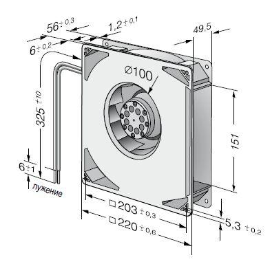 RG160-28/06S ebmpapst вентилятор чертеж