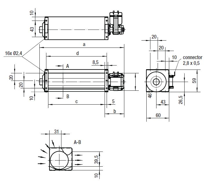 QL4/0500-2112 ebmpapst вентилятор чертеж