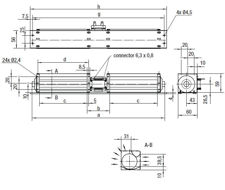 QL4/2525-2124 ebmpapst вентилятор чертеж