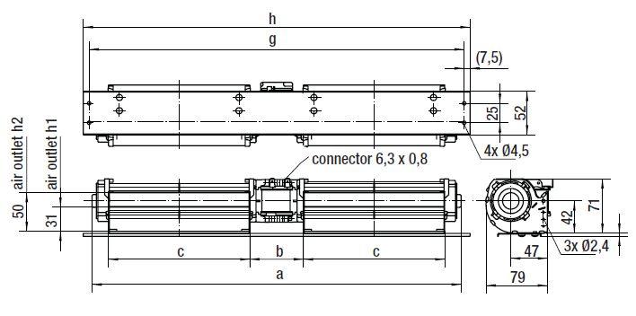 QLK45/1212-3030 ebmpapst вентилятор чертеж