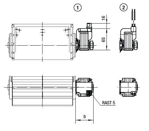 QLZ06/2400-2524 ebmpapst вентилятор чертеж