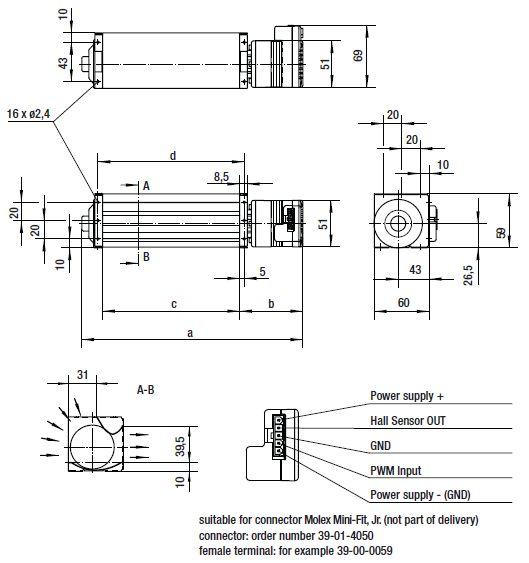 QL4/3000-2212 ebmpapst вентилятор чертеж