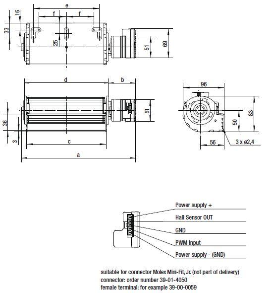 QLZ06/2400-2212 ebmpapst вентилятор чертеж