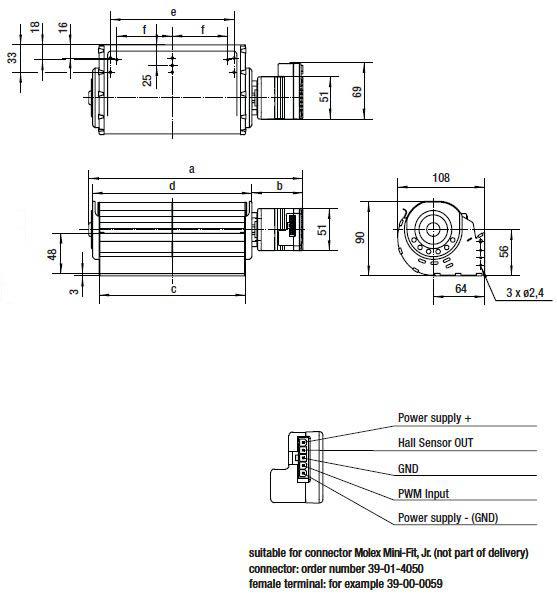 QLN65/1800-2212 ebmpapst вентилятор чертеж