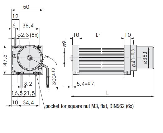 QG030-148/12 ebmpapst вентилятор чертеж