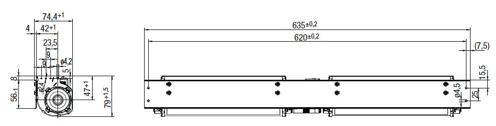 QLK45/2424-2212 ebmpapst вентилятор чертеж