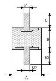 Виброопора резинометаллическая OKSA.5020