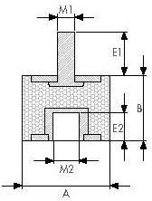 виброопора резиновая OKSB5050 габаритные размеры