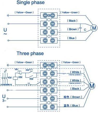 YWF-2E-200-B-92/15-G электрическая схема
