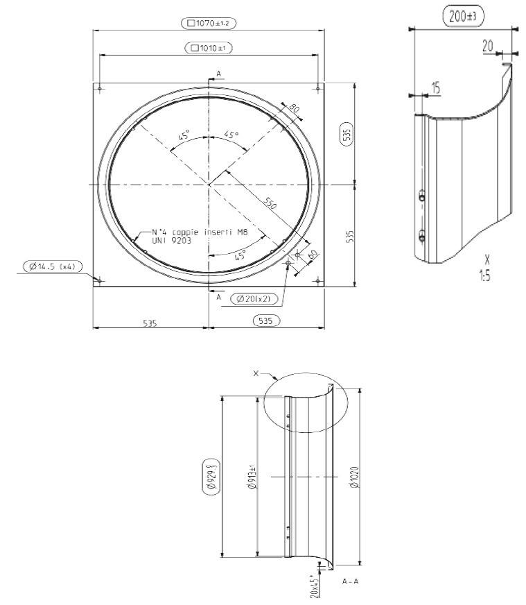 106AW0489 чертеж диффузора